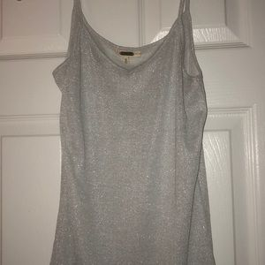 Silver sparkly cami-NEW-never worn